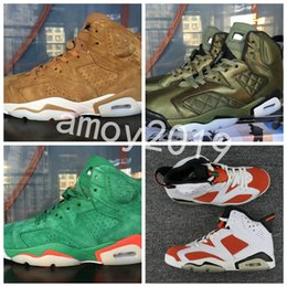 Wholesale leather jacket gold - 2018 Gatorade Superfly 6 Green Red Suede Flight Jacket Men Women Basketball Shoes 6s Mens Trainers Sneakers Zapatos Size 36-47 WithBox
