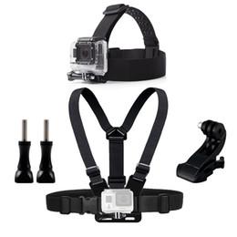 gopro set Desconto Montagem de cinto de cabeça de peito para Gopro Hero 5 4 acessórios conjunto Câmera de ação de SJCAM SJ4000 Go pro J montagem para cinta de cinto de cabeça