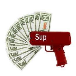Wholesale Pistol Gun Games - Money Gun Pistol Toys Christmas Gift Make It Rain Party Toys Game 1PCS Cash Cannon Funny Money Gun Toy