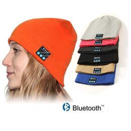 haut-parleur bluetooth anglais Promotion Bluetooth Hat Music Beanie Cap Bluetooth V4.1 stéréo écouteur sans fil haut-parleur microphone mains libres avec paquet de détail anglais et sac OPP