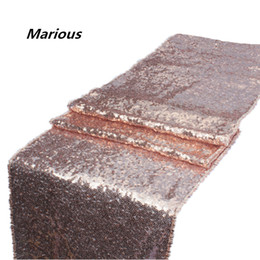 Wholesale Table Runners For Weddings Cheap - Marious 20pcs sequin 29*275cm table runner wedding runner decoration cheap for sale free shipping