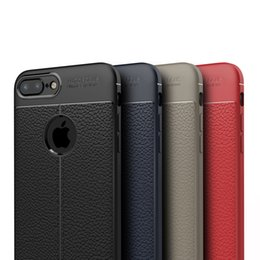 Funda de piel apple iphone 5s online-Lujo suave TPU fundas de cuero cubierta de fibra de carbono Coque para Apple iPhone 5 5s 6 6s 7 8 Plus X XS XR Max