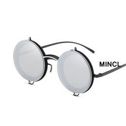 óculos de sol refletivos de mercúrio Desconto Retro Pequeno Rodada Moda masculina  Reflexivo Mercúrio Óculos De f398575174