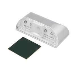 Wholesale led battery motion - PIR Infrared IR Wireless Auto Sensor Motion Detector Keyhole 4 LED Light lamp
