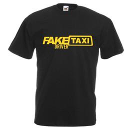 Marchi falsi abbigliamento online-Mens Nero Divertente Tassista falso T-Shirt Stag Party Gents stampato UK Marca Cotton Men Abbigliamento uomo Slim Fit