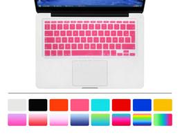 """Idioma francés online-Frence AZERTY Language Euro UK Layout Funda con teclado de silicona francesa para Macbook Air 11 """"A1370 A1465 Protector de teclado"""