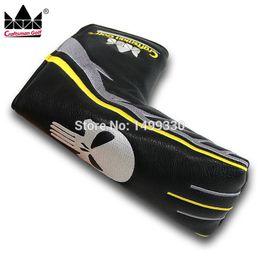 protección de la cuchilla Rebajas NUEVA LLEGADA Craftsman Golf Putter Cover Skull Skeleton Magnetic Blade Headcover Black Club Protection