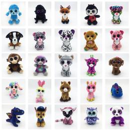 boneca de panda dos desenhos animados Desconto TY Brinquedos De Pelúcia Olhos Grandes Bichos de pelúcia Brinquedos Panda Dos Desenhos Animados Urso Unicórnio Boneca De Pelúcia Encantador Presentes de Aniversário das Crianças