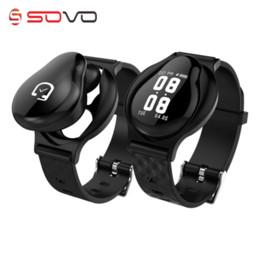 2019 pulsera removible SOVOGU B63 Smart Wristband Fitness Tracker pulsera llamada recordar auricular extraíble y SmartBand están en uno para el teléfono pulsera removible baratos