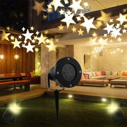 Wholesale Laser Effects Star - Outdoor Moving Sky Star Christmas Xmas Laser Projector lamp Party Disco DJ Laser Stage Effect Light Landscape Lawn Garden lamp