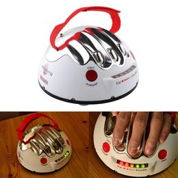 Wholesale Electric Shock Games - Funny Portable Adult Polygraph Test Electric Shock Lie Detector Party Game Reloaded Truth Shocking Liar Toy Gift Age 14+
