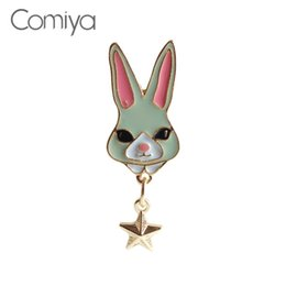 Wholesale cc brooch wholesale - Comiya Zinc Alloy Brooches Bijoux Femme Rabbit Star Gold Color Accessories Brooch For Women Indian Statement Jewelry Joyas CC