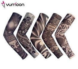 kinder tattoos großhandel Rabatt Freeshipping 5 PC-neue gemischte 92% Nylon-elastische gefälschte Tätowierung Ärmel Designs Körper Arm Strümpfe Tattoo für coole Männer Frauen