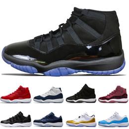 Zapatos cerrados para hombres online-barato 11 11s Concord Prom Night Men Basketball Shoes blackout Gym de Pascua Red Midnight Navy Barons Closing Concord Bred sport sneakers