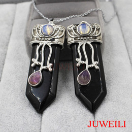 Камень меч онлайн-New Style Sword Reiki Pendant Natural Stone Healing Chakra Charms Women Men Wicca Witch Amulet Gift JUWEILI Fashion Jewelry