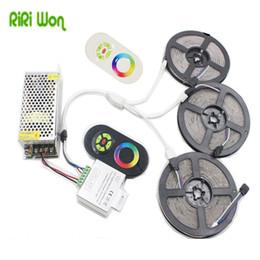 Wholesale 15m Led Strip Controller - RiRi won 5050 SMD RGB LEDs Strip Light 60Leds m Led Tape ribbon diode waterproof 20M 15M 10M 5M controller DC 12V power supply