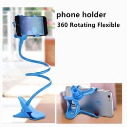 Clip ipad halter online-Großhandel 360 Rotation Flexible Universal-Handys Tablet PC iPad Halter Schreibtisch Clip Halter Lazy Holder für iPhone