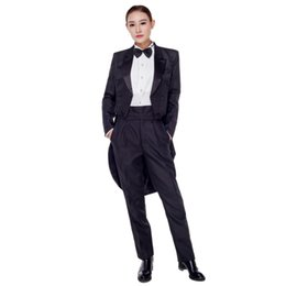 Wholesale Dance Costume Tuxedo - costume suits Hmong Clothes Rushed Polyester Women Dance Costumes 2016 New Lady Tailcoat Magic Tuxedo Suit Stage A Host Clothing Costume Set