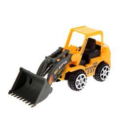 Wholesale toy bulldozers - 6pcs Mini Car Toys Vehicle Sets Construction Bulldozer Excavator Engineering Vehicle Baby Kids Educational Toy Birthday Gift