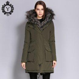 1158528c69f COUTUDI 2017 женщина зимние пальто и куртки Женские толстые теплые шуба  женская армия зеленый длинные парки плюс размер Оптовая куртка