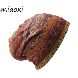 Wholesale Vintage Skull Caps - miaoxi Sale Women Fashion Hat Brand Ladies Design Hat Caps Girl Vintage Warm Cap Female Scarf Autumn Gorro Bonnet Girl Beanie