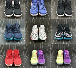 Wholesale Best Brands Basketball Shoes - Best Brand Irving Basketball Shoes 4 Men Multicolor Purple Yellow Outdoors Sport Sneakers Size 40-46 Free Shipping