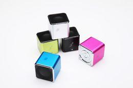 alto-falantes de música angels Desconto Música portátil anjo Mini Amplified Sound Box estéreo Multimedia Cube Speaker System com Rádio FM para iPhone Samsung