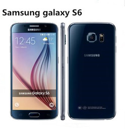 Wholesale S6 Android Phone - Samsung Galaxy S6 SM-G920 G920A G920F G920P G920V Original Unlocked 3G&4G 16MP Camera Octa Core 5.1'' 32GB ROM 3GB RAM refurbished phone