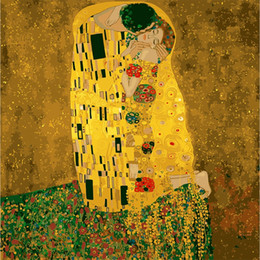 Wholesale Gustav Paintings - Wall Pictures DIY Digital Canvas Oil Painting Classic Pictures Coloring By Numbers Modern Acrylic Paint By Number By Gustav Klimt Art Paint