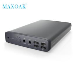 Cargando laptop dc online-Banco de potencia portátil MAXOAK K2 DC 19V 5A / 12V 2.5A Puertos de carga Cargador de batería externo para computadoras portátiles Tablets cellphone