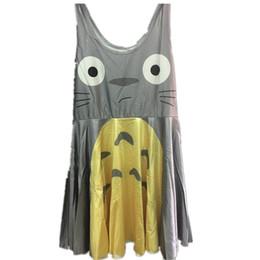 Vestido de totoro online-Vestido de fiesta plisado de verano de Studio Ghibli Girls My Neighbor Totoro vestido corto para niños
