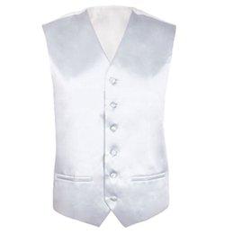 Wholesale Ivory Wedding Waistcoats - Mens Wedding Waistcoat Groom (Ivory white 4XL UK 48)