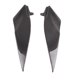 Wholesale R1 Carbon Fiber - ALLGT Motorcycle Gas Tank Side Panel Fairing Cover for Yamaha YZF R1 2007 2008 Carbon Fiber