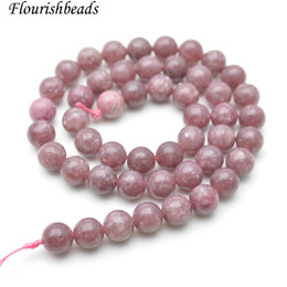Wholesale loose tourmaline - Smooth Natural Pink Chinese Tourmaline Stone Round Loose Beads 4mm 6mm 8mm 10mm 12mm