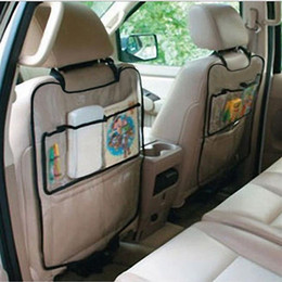 Wholesale Transparent Car Cover - Transparent Car Auto Seat Back Cover bag Universal Back Seat Bag Organizer Backseat Holder Pockets Car-styling Protector GGA205 50PCS