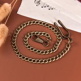 Canada Chaîne de chaînes de montre de poche d'alliage de bronze de vente chaude pour l'antique montre de poche de cru de quartz Offre