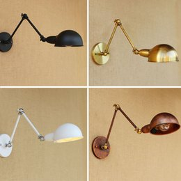 Wholesale Adjustable Light Arms - Adjustable Swing Long Arm Wall Light Vintage Home Lighting Loft Industrial Wall Lamp LED Sconce Lampen Appliqued Murales