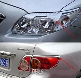 Wholesale Fog Lamp For Toyota Corolla - High quality ABS with Chrom car headlamp decoration cover trim frame,taillight cover trim, front fog lamp cover for Toyota corolla 2007-2010