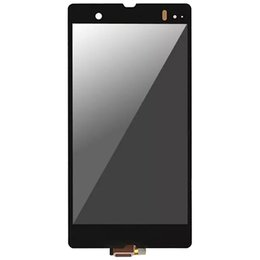 Wholesale Touch Screen Monitor Replacement - Free Shipping Dhl Lcd Display Panel Monitor With Touch Screen Digitizer Replacement For Sony Z L36h L36i C6601 C6602 C6603 C6606 C660x