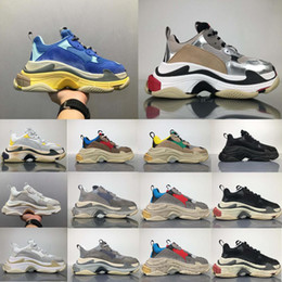 Wholesale Low Sole - 2018 Best Luxury Triple-S New Design Low Sneakers Thick soles Boost Men Women Running Shoes Top Quality Sports Casual Shoes DHL Shipping