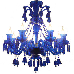 candle light fixture chandelier Coupons - Out-let Crystal Chandelier Candle Lighting Fixture Blue Red Black Lustre Crystal Lamp Living Room K9 Crystal Chandelier