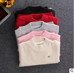 Wholesale Children Red Pullover Sweater - Thick Sweater Pullover Children Baby Boys Girls Fall Winter Fashion Sweater Sweater Cotton Winter Children Clothing Kid Knitted Cardigan
