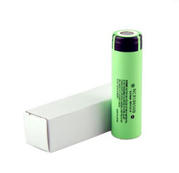 Wholesale Electronic Cigarette Flat - 2018 NCR18650B Battery 3.7V 18650 Lithium Battery Li-on Cell 3400mAh Flat Top fit any electronic cigarette mods epacket Free