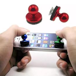 juegos gratis para tablet android Rebajas Universal Mobile Game Joystick dirección maneja Rocker reutilizable Screen Sucker cup Controladores de juegos para iPhone Android Smart tablet gratis DHL