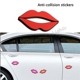 Wholesale Car Door Anti Collision - free shipping 4pcs set universal door anti-collision body paste scratch anti-rub sticker car car side door edge protector decorations