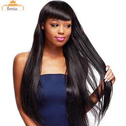 Dhgate remy cabello online-DHgate Sale Bemiss Hair® Pelucas brasileñas del frente del cordón del pelo humano para las mujeres Peluca recta del pelo de Remy con el pelo del bebé Natural Hairline Natural Color