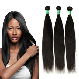Wholesale Weaves Hair Piece Prices - Peruvian Straight Virgin Hair Weave 100% Human Hair Extensions 3 Bundles 100g pc Natural Color Factory Price Silky and Shiny Free Shipping