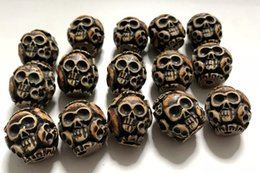 deslizador pulsera de cuentas espaciadoras Rebajas Envío gratis YQTDMY Envío gratis YQTDMY 50 piezas Moda imitación talla Horror Skeleton Rock Skull Head Beads