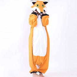 2019 pijamas laranja mulheres Fleece Nick Fox Onesie Adulto Pijama Dos Desenhos Animados Laranja Lowrie Traje Sleepwear Mulheres Cosplay Inverno Quente Onesies Pijama desconto pijamas laranja mulheres