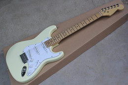 Wholesale chinese hand cream - Alder Body ** Top Quality Custom Shop Cream Chinese ST Standard Electric Guitar 3 Pickups Maple Fretboard Free Shipping